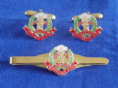 MIDDLESEX REGIMENT CUFF LINK AND TIE GRIP / CLIP GIFT SET